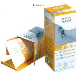 ECO-Cosmetics Водостойкий солнцезащитный крем SPF 20 75 мл