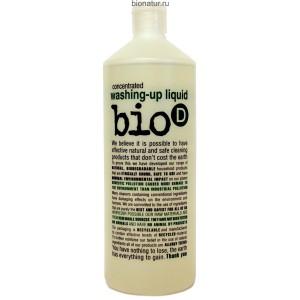 Bio-D экологическое жидкое средство для мытья посуды, 1 литр