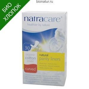 Natracare прокладки ежедневные ЗАКРУГЛЕННЫЕ, 30 штук