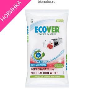Ecover салфетки для очистких любых поверхностей, 40 штук